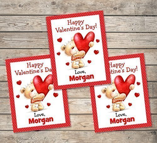 Amazon: Kids Valentine Cards, Personalized Valentine Cards ...
