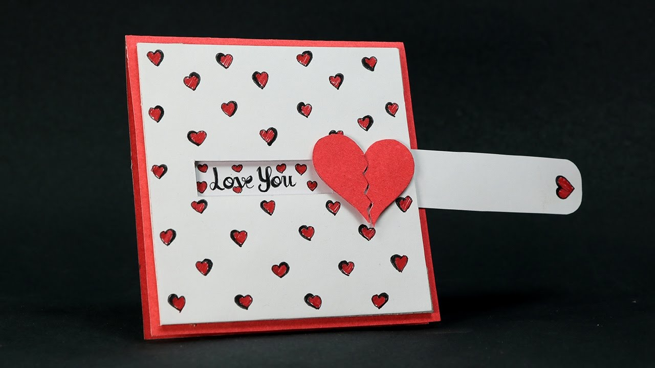 DIY Valentine Card - Love Slider Card Tutorial - YouTube
