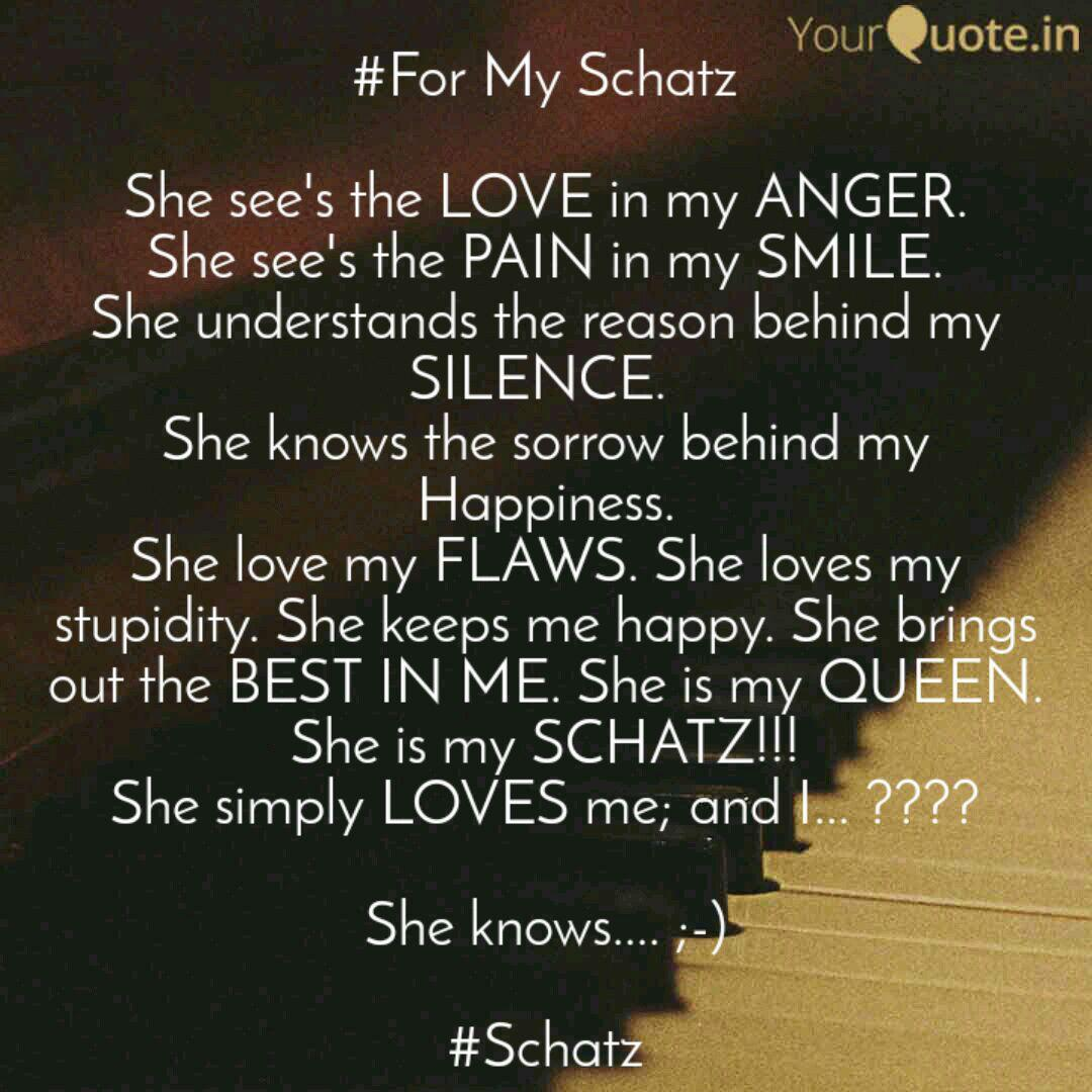 Best schatz Quotes, Status, Shayari, Poetry & Thoughts | YourQuote
