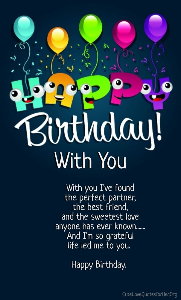 happy birthday love poems for him | Quote relationship | Pinterest ...