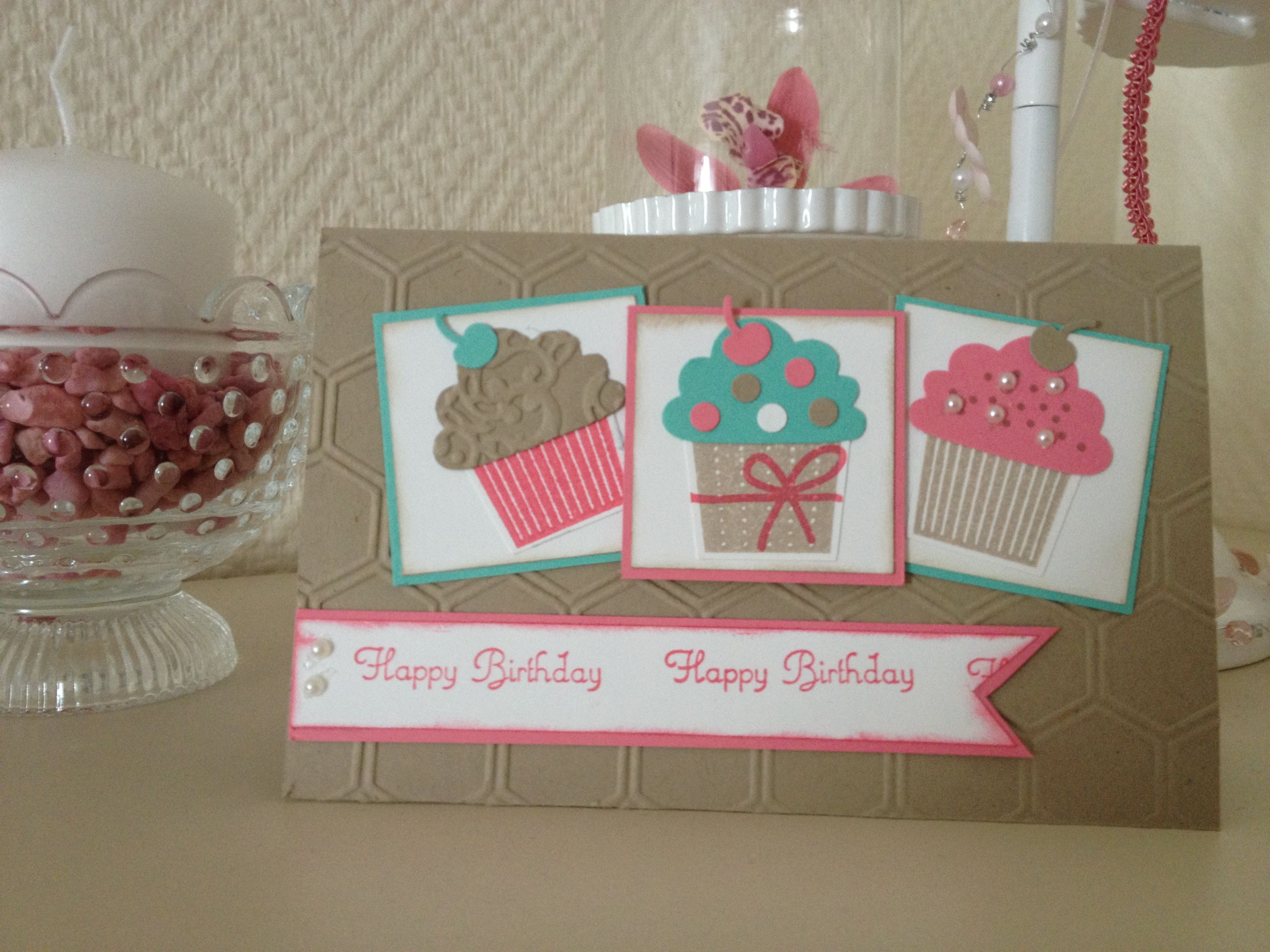 Muffin Card stampin up | Cupcake cards | Cupcake card, Cards und ...