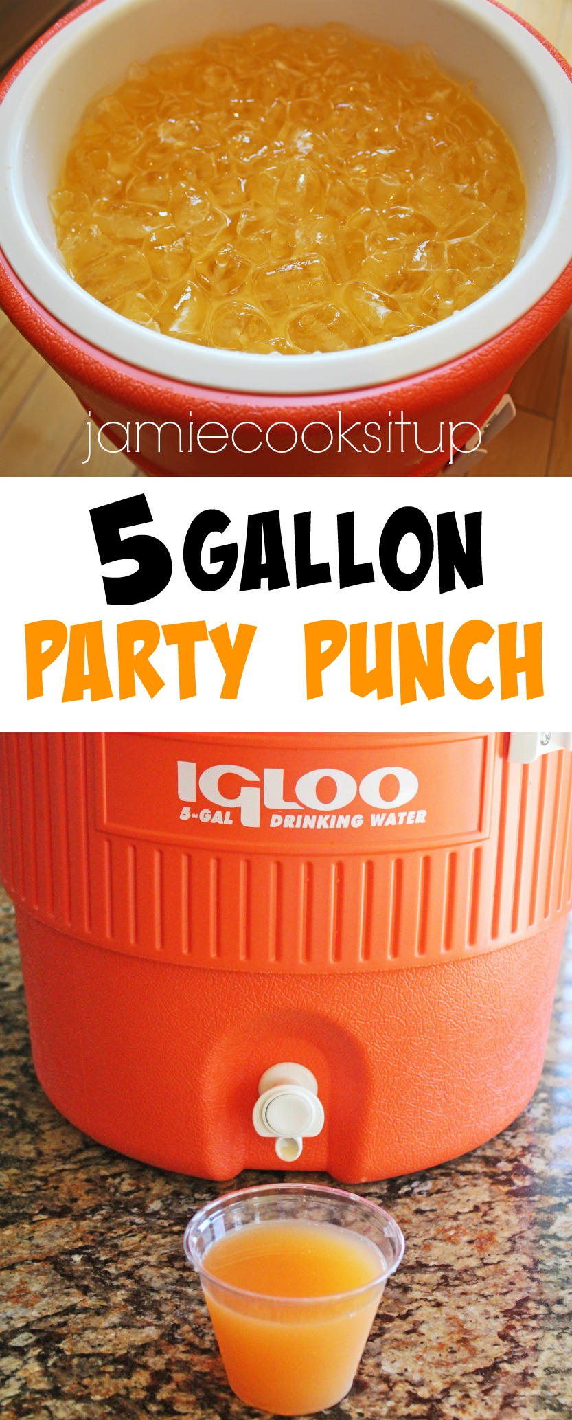 5 Gallon Party Punch | Jamie Cooks It Up - Family Favorite Food ...
