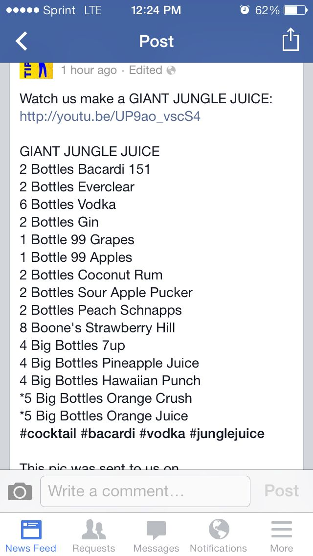 Giant jungle juice | Alcohol in 2019 | Drinks alcohol recipes ...