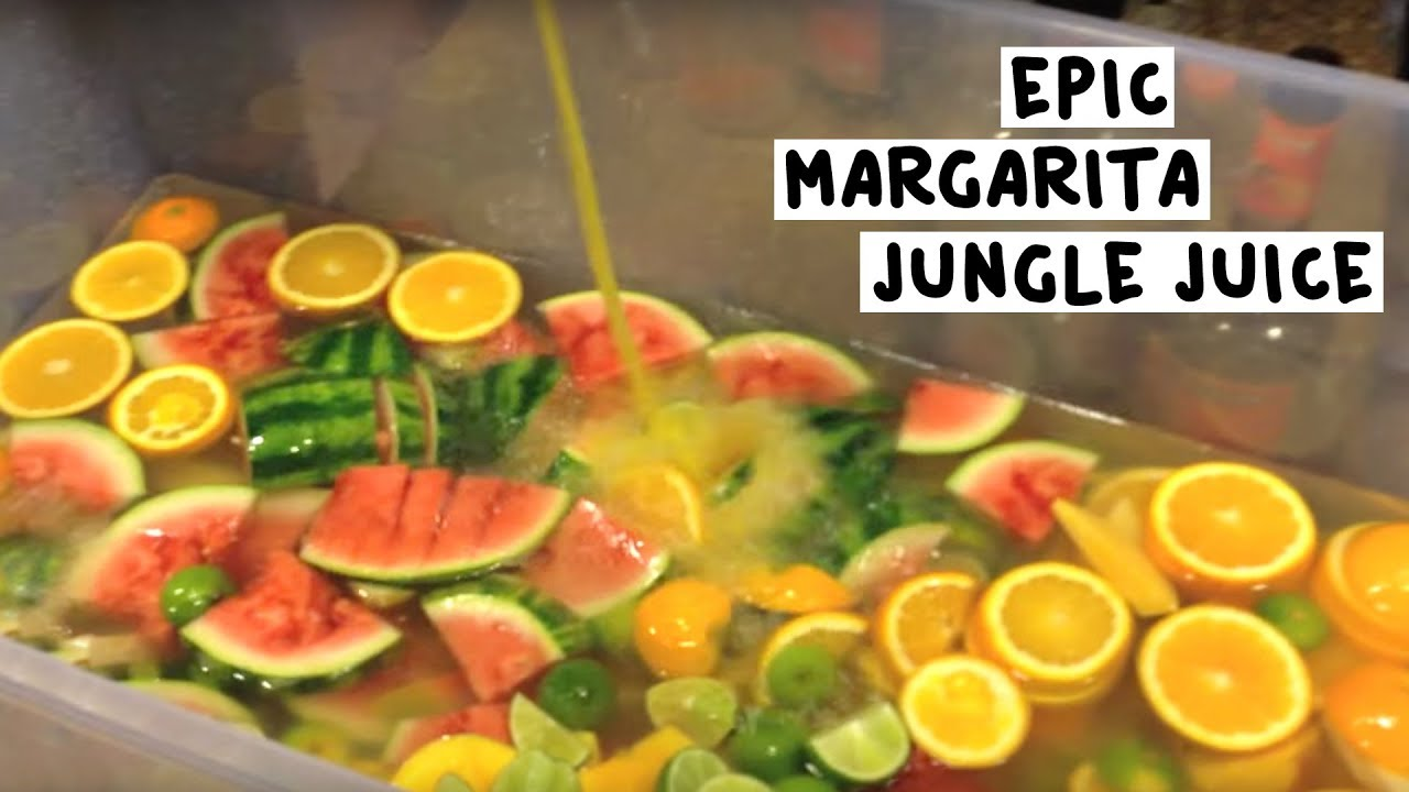 Epic Margarita Jungle Juice - Tipsy Bartender